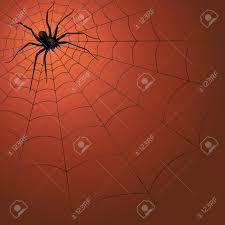 big dark spider on the web hand drawing halloween vector