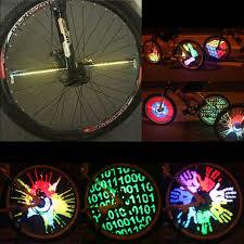 bike lights for night riding new yq8003 128 leds patterns changing bike wheel spoke light night