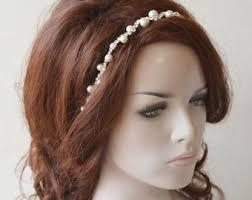 headpiece wedding pearl headpiece etsy