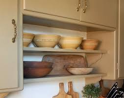 trying kitchen open shelving