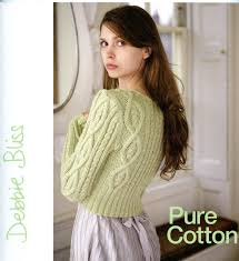 pure cotton and stella debbie bliss knitting pattern book with 2