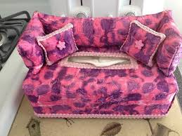 pink purple lavender tie dye fabric couch sofa tissue box cover