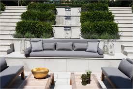 Modern Firepit Terrace Garden Design Ideas Modern Wooden Deck Orange Fence Design
