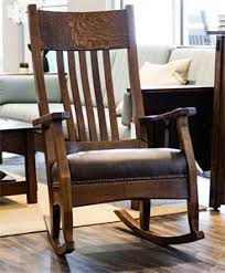 Mission Style Rocking Chair Mission Style Furniture By Dutchcrafters