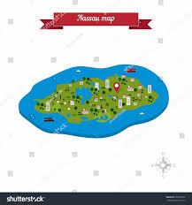 Nassau Map Nassau New Providence Island Bahamas Map Stock Vector 365098106