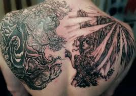 tattoos for men good vs evil designs jpg good vs bad tattoo