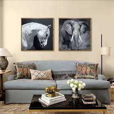 realist natural elephant and horse head theme nordic minimalist