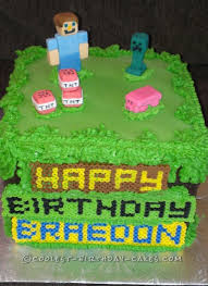 minecraft birthday cake for 10 year old boy minecraft birthday