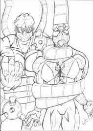doctor octopus coloring pages getcoloringpages com