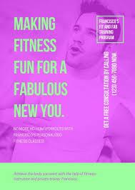 fitness flyer templates canva