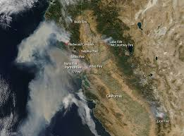 California Wildfire Fire Map by Wildfires Running Amok In California Nasa