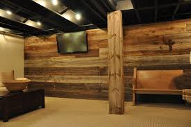 rustic basement ideas modern and rustic rustic basement chicago by reclaimed