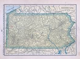 County Map Of Pennsylvania Historical Maps Of Pennsylvania