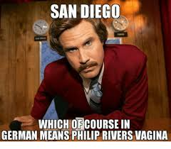 Philip Rivers Meme - san diego which course in german means philip rivers vagina meme