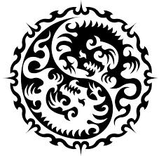 tribal ying yang design with dragons by jameshd1997 on deviantart