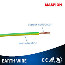 pvc insulated green and yellow 35mm single core cable earthing