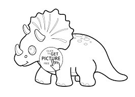 funny dinosaur triceratops cartoon coloring pages kids