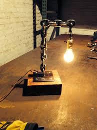 welded chain desk lamp www makerschicago com breclaimed blogspot