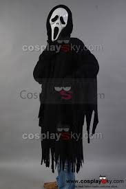 scream ghost face killer black robe mask costume cosplaysky com