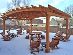 Wooden Picnic Tables With Separate Benches Round Wooden Picnic Table With Detached Benches