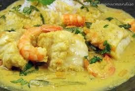 cuisiner la lotte au curry lotte au curry et effilochée de légumes péché de gourmandise