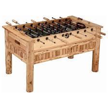 Game Table Plans Rush Creek Log Foosball Table 154223 At Sportsman U0027s Guide
