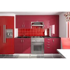cuisine couleur bordeaux cuisine complète 220 cm oxane bordeau achat vente cuisine