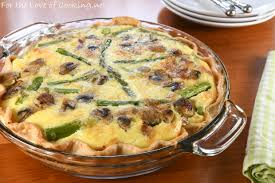 cuisine quiche bacon asparagus and quiche with gruyere and fontina