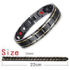 stainless steel charm bracelet images Black men 39 s health bracelets bangles magnetic h power stainless jpg