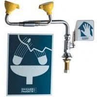 Faucet Mounted Eyewash Station Chicago Faucet Eyewash Stations U0026 Drench Showers Kullysupply Com
