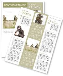 military newsletter template u0026 design id 0000008342