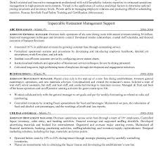 Restaurant Manager Resume Template Restaurant Manager Resume Sle Haadyaooverbayresort Com