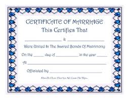 keepsake marriage certificate with blue sapphire hearts border