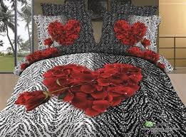 high quality romantic comforter set bed sheet 100 cotton 3d bed