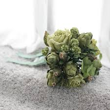 Deep Forest Green Green Flowers Medium Bouquet Deep Forest Posie Flowers