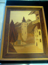 inlaid wood picture ebay