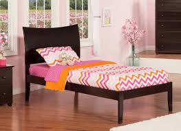 atlantic furniture soho extra long twin sleigh bed with open foot