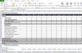Simple Profit And Loss Excel Template Restaurant Profit And Loss Statement Template Excel Excel Tmp