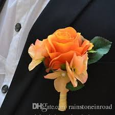 Rose Boutonniere 2017 Party Silk Fabric Artificial Rose Boutonniere Wedding