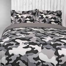 soft u0026 lofty reversible comforter set camo black u0026 gray shopko