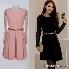 Pink And Black Casual Dresses 2016 2017 B2b Fashion