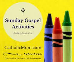 catholic gospel coloring u0026 worksheets for sunday mass