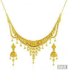 beautiful necklace gold images Beautiful gold necklace set ajns58451 designer 22k yellow gold jpg