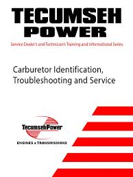 tecumseh carburetor manual carburetor gasoline