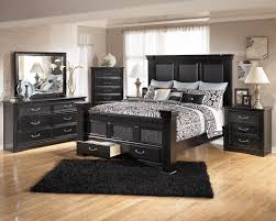 queen size industrial brown wood and metal bed upholstered storage