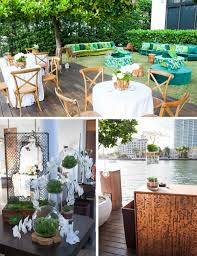 chic backyard party in miami nüage designs