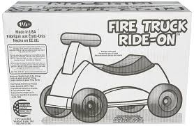 amazon com american plastic toys fire truck ride on toys u0026 games