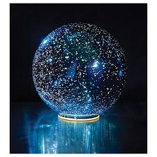 mercury glass ball lights lighted mercury glass sphere 8 or 5 in blue battery operated at