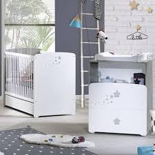 ensemble chambre bébé pas cher pack promo ensemble lit bébé 60x120 cm commode à langer pilou baby