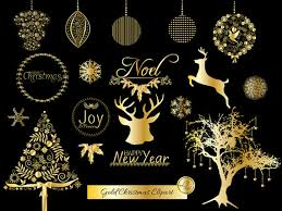 gold christmas items similar to gold christmas clipart christmas ornaments deer
